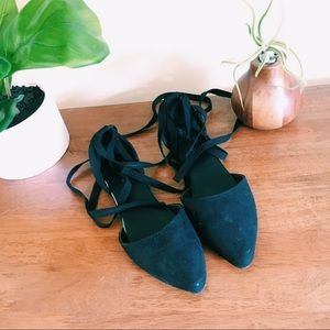 American Eagle Outfitters Lace Up Flats